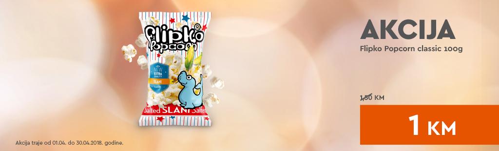 Flipko Popcorn classic 100g promocija