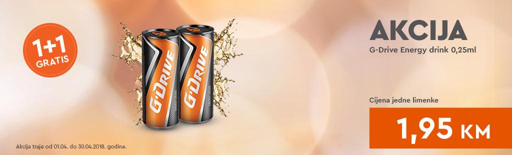 G Drive Energy drink promocija