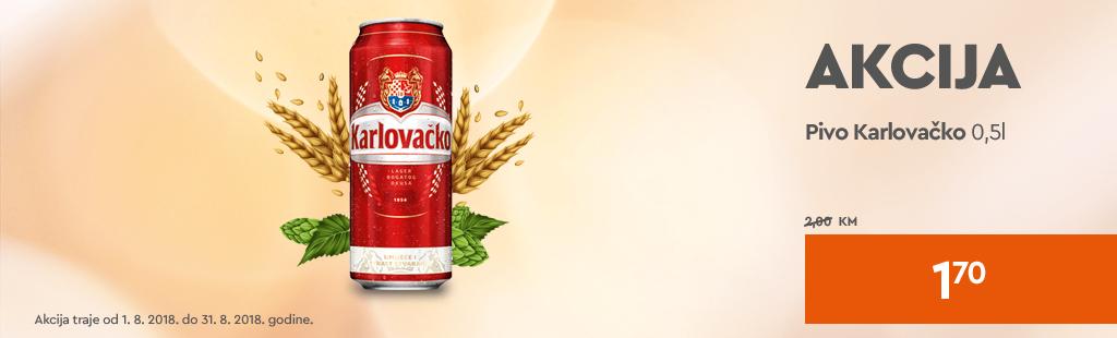 Pivo Karlovačko limenka akcija 1,70 KM
